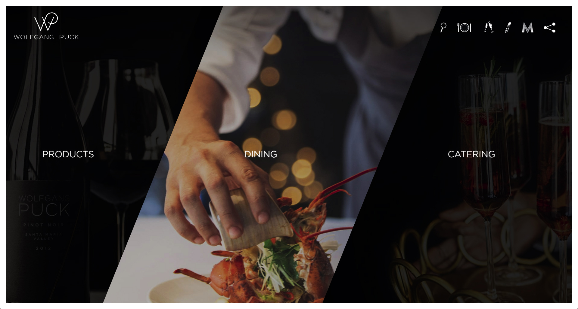 Advertising // Wolfgang Puck Homepage, Center Image, 2018